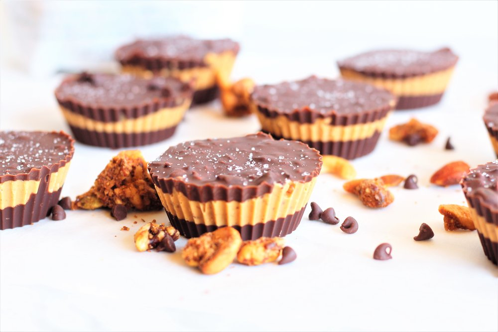 cocoa cashew butter crunch cups