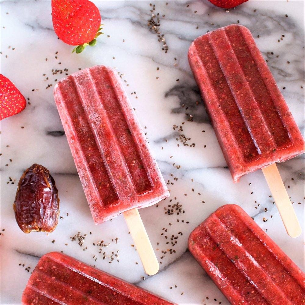 Strawberry Chia Popsicles