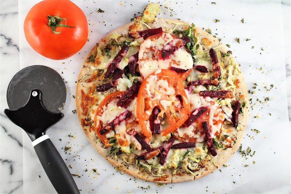 Tomato Beet Pizza