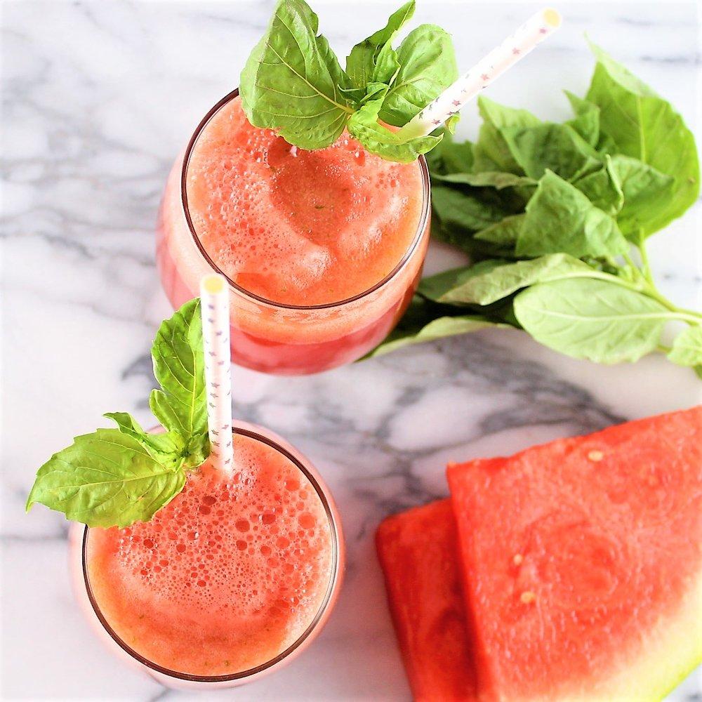 watermelon basil spritzer