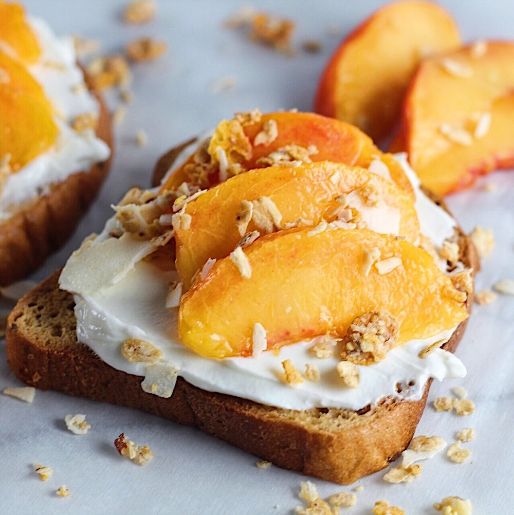 peaches n cream toast