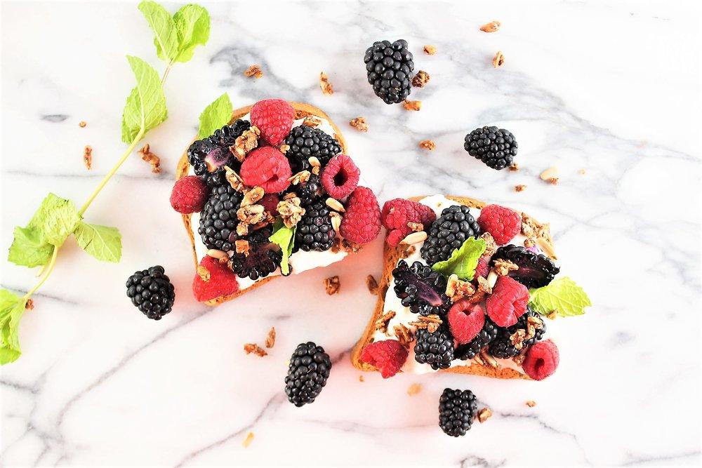 Berry Minty Toast