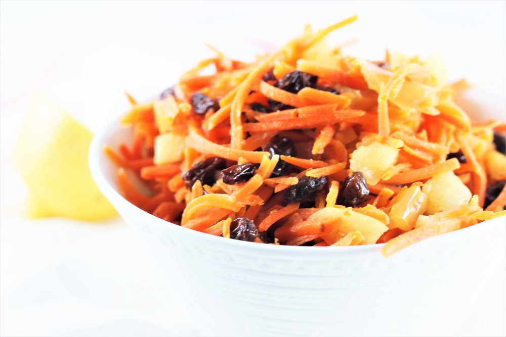 spiced carrot apple slaw