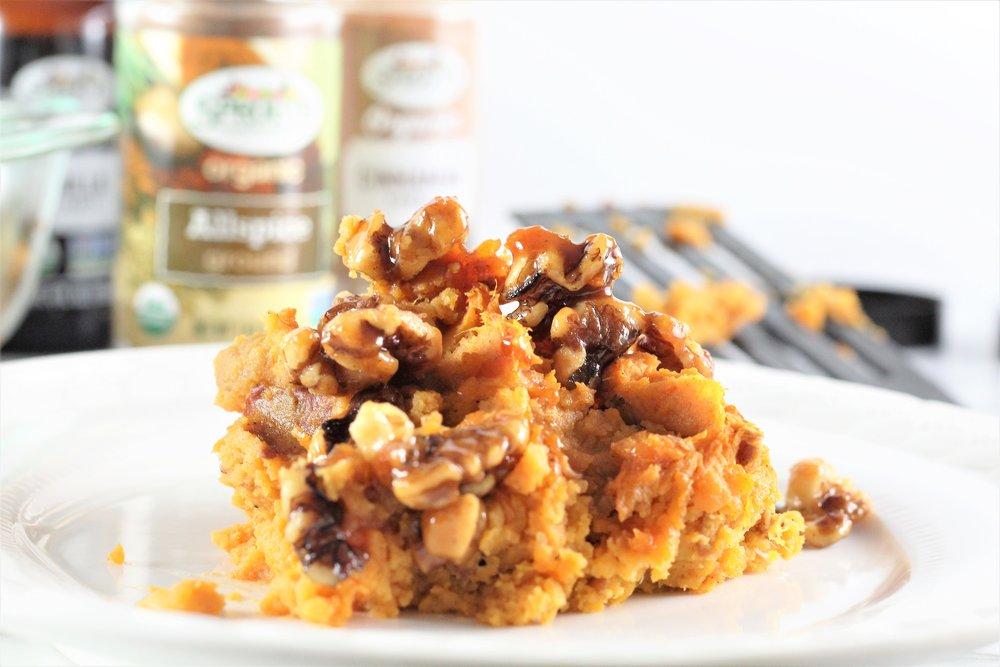 Maple Walnut Sweet Potatoes
