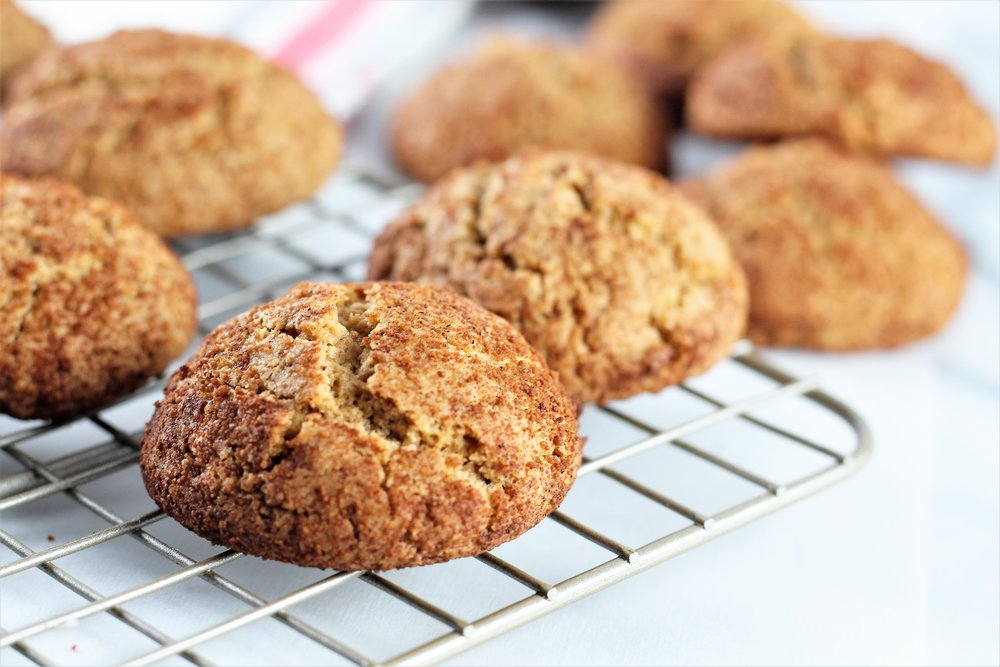 toasted almond snickerdoodles