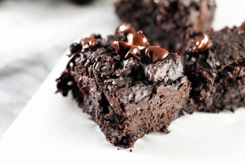 9. Vegan High Protein Fudge Brownies  (10 most popular recipes of 2018)  These are an instant favorite, and appeaI to so many different interests: vegan, high fiber, high protein, gluten free, low sugar, no added sugar, and I could keep going. But what matters most? They taste AMAZING!!