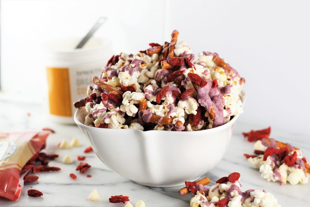Crunchy Red Velvet Snack Mix