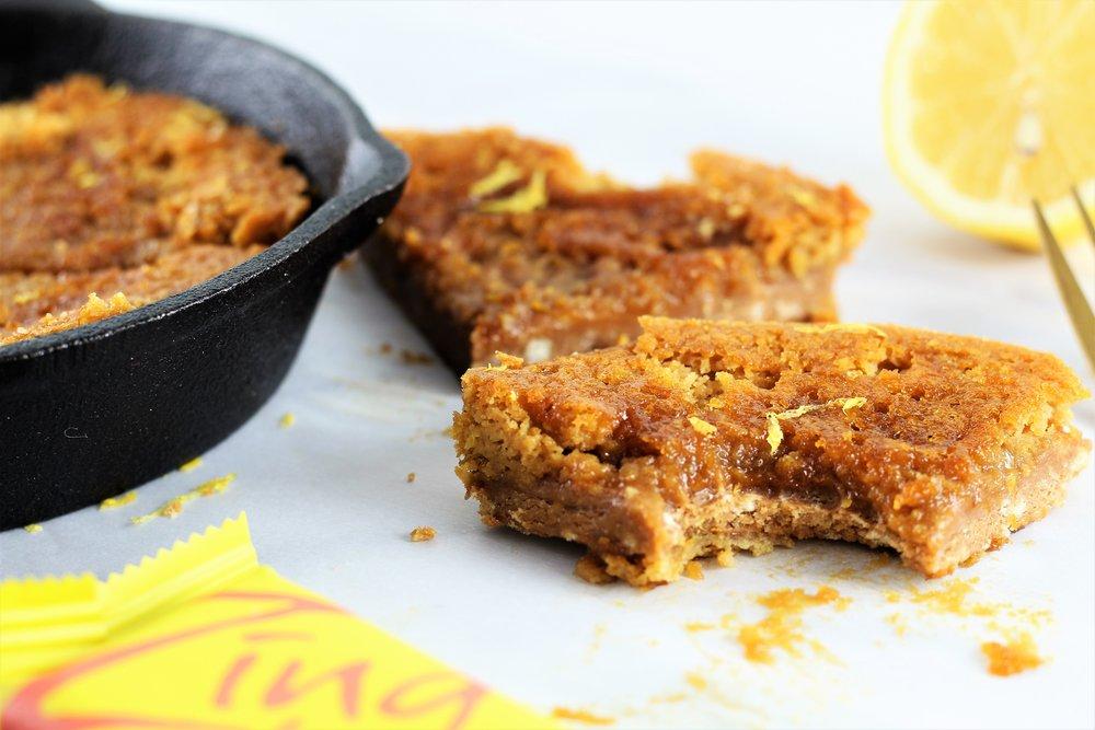 Dessert for Two: Gluten Free Lemon Bar Skillet