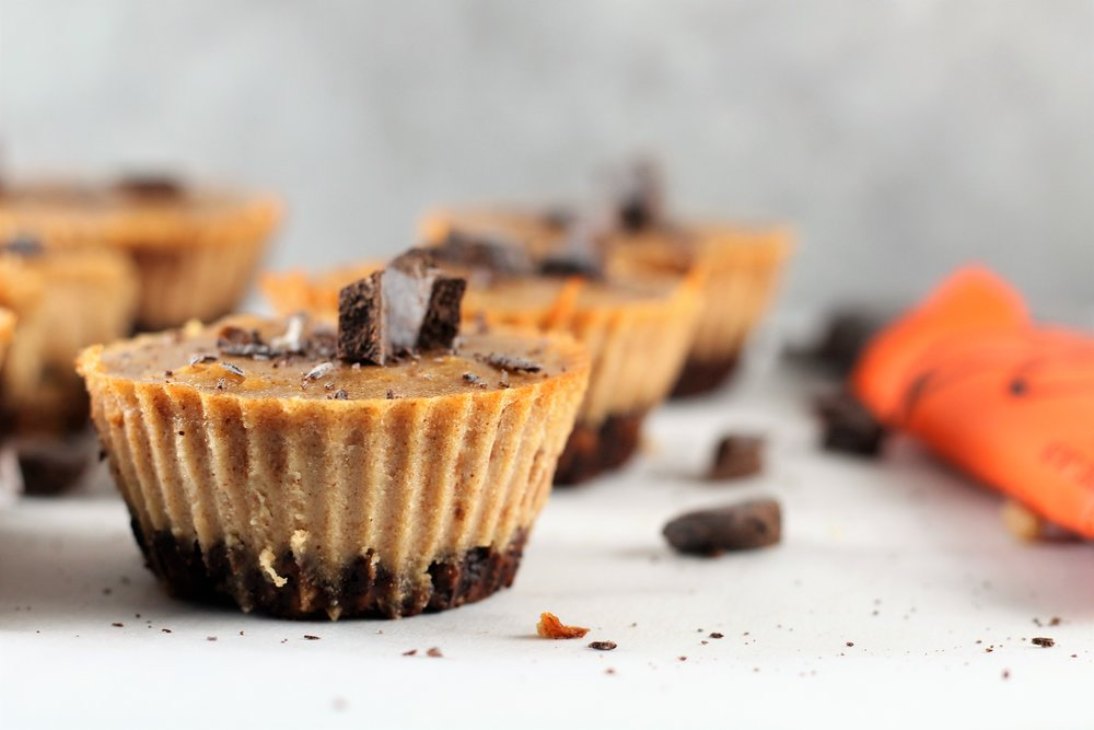 Gluten Free Peanut Butter Chocolate Mini Cheesecakes