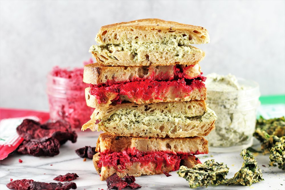 Kale & Beet Grilled Cheese Sandwiches