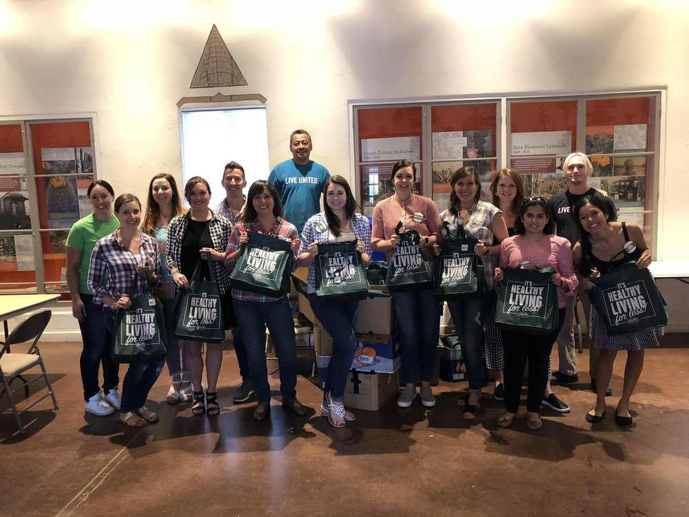 While we were in Scottsdale, we got to help package 175 emergency meal kits that were delivered to families of children in summer school in local Arizona schools.