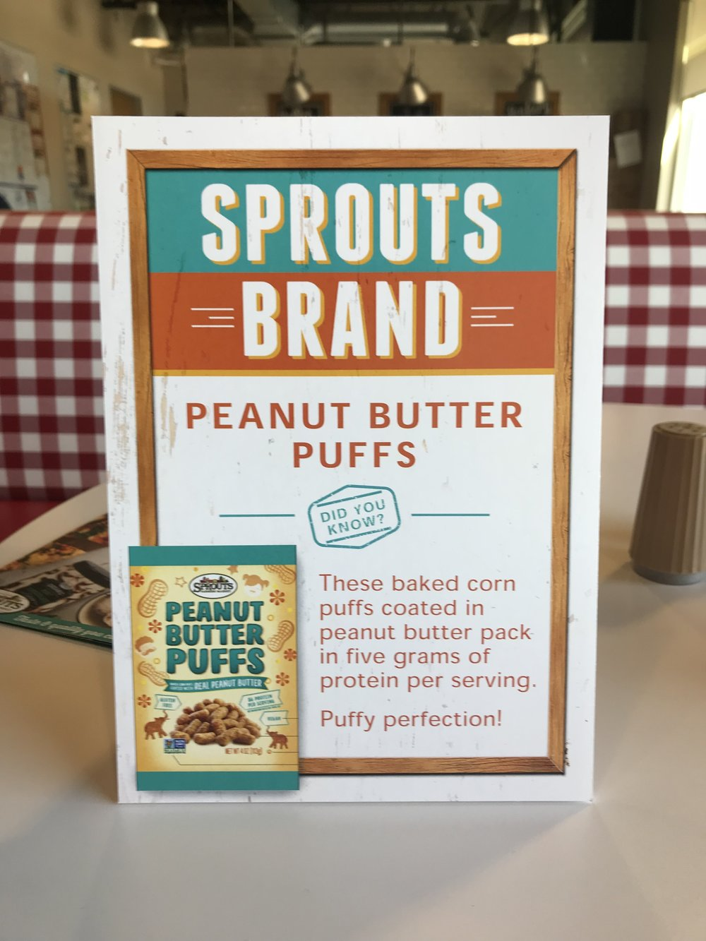 These new Sprouts brand PB puffs were amazing and packed 5g of protein per serving!