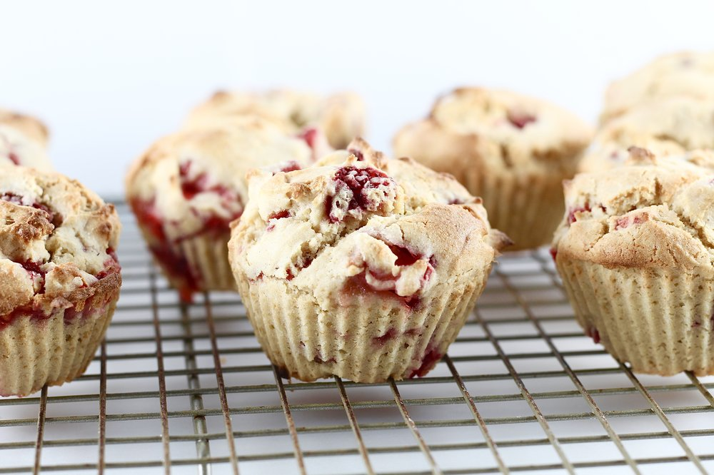 Low Sugar Strawberry Muffins