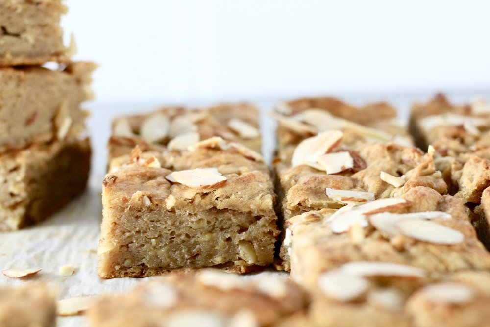 Gluten Free Banana Nut Blondies