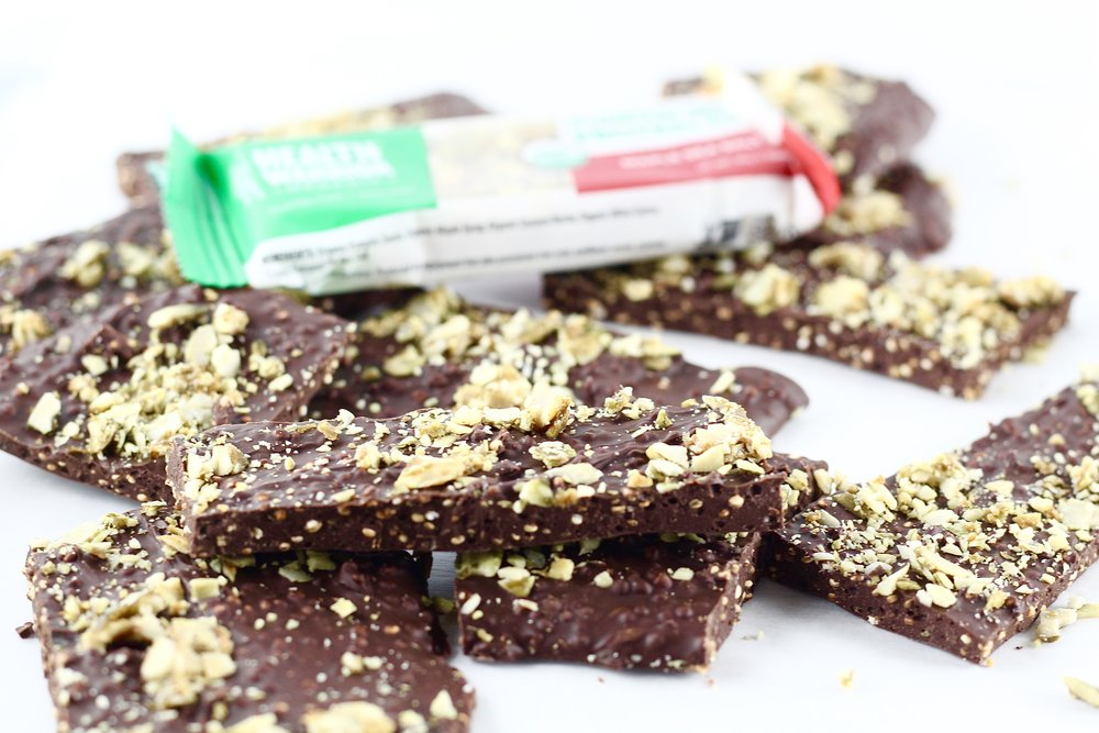Homemade Chocolate Bark with Maple Pumpkin Seed Topping