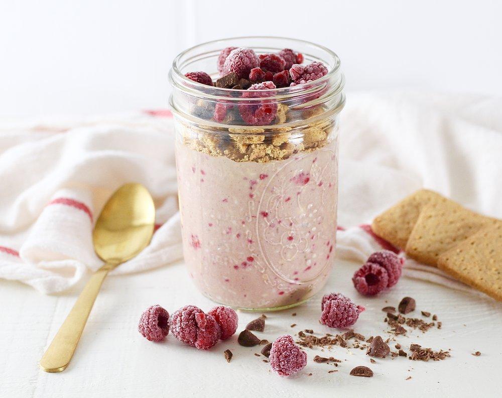 Raspberry Overnight Oats 3 Ways