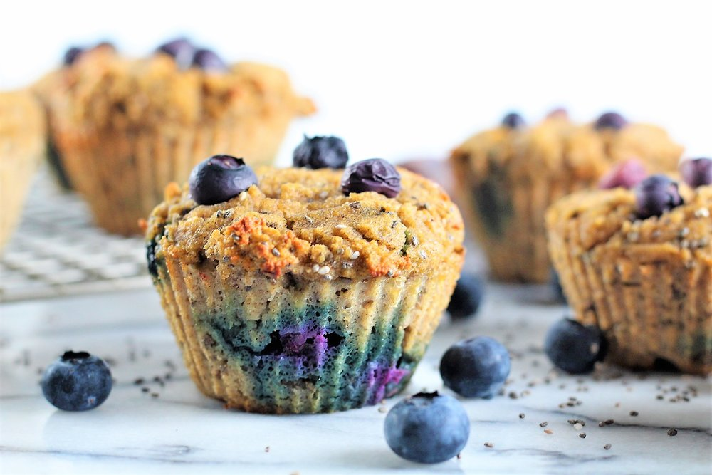 7. Blueberry Chia Muffins  (10 most popular recipes of 2018