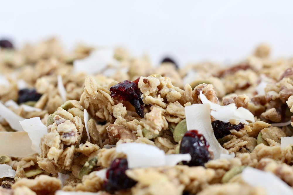 Cranberry Maple Tahini Granola