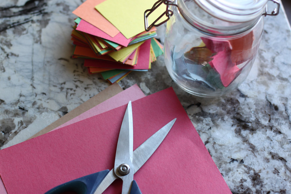 Teaching thankfulness at Valentine's Day with gratitude jars