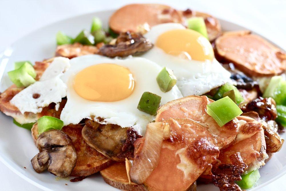 Sweet Potato Veggie Breakfast Nachos