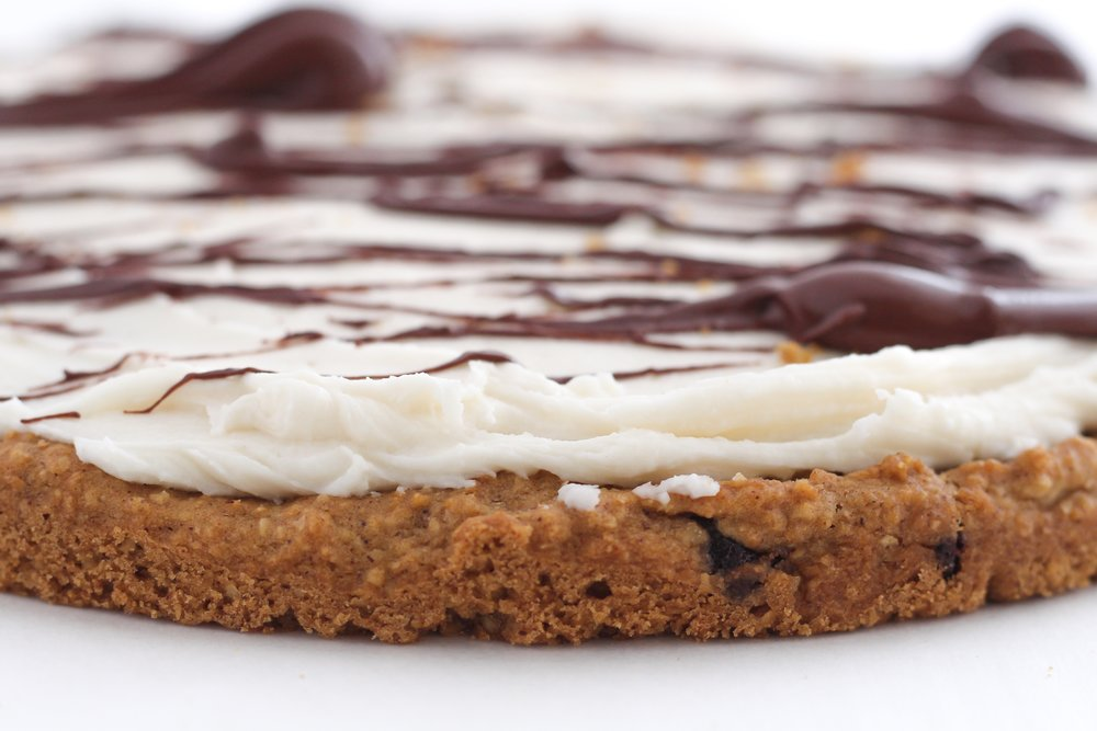 Low Sugar Gluten Free Chocolate Chip Cookie Cake