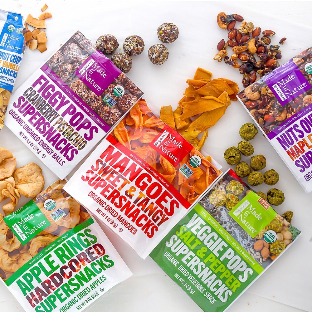 Made in Nature dried fruit and veggie snacks
