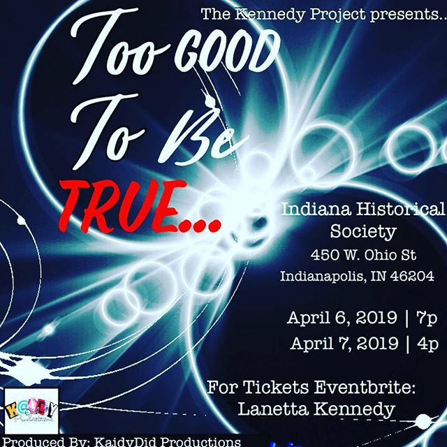 When is life Too Good to Be True? Is it when all is perfect or when we are at peace with the imperfect?  Being able to find love when we didn't think it was possible for us or find that LOVE is what saved us? I want to invite you to come see Too Good to Be True creates by Lanetta Kennedy and produced by @kaidydid_productions coming this April.  You will laugh and get blessed all in one night. #theater