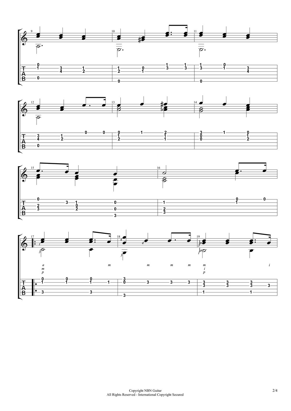 Etude No. 3, Op. 35 - Sor (Sheet Music & Tabs)-p4.jpg