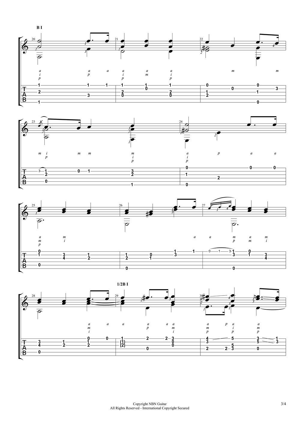Etude No. 3, Op. 35 - Sor (Sheet Music & Tabs)-p5.jpg