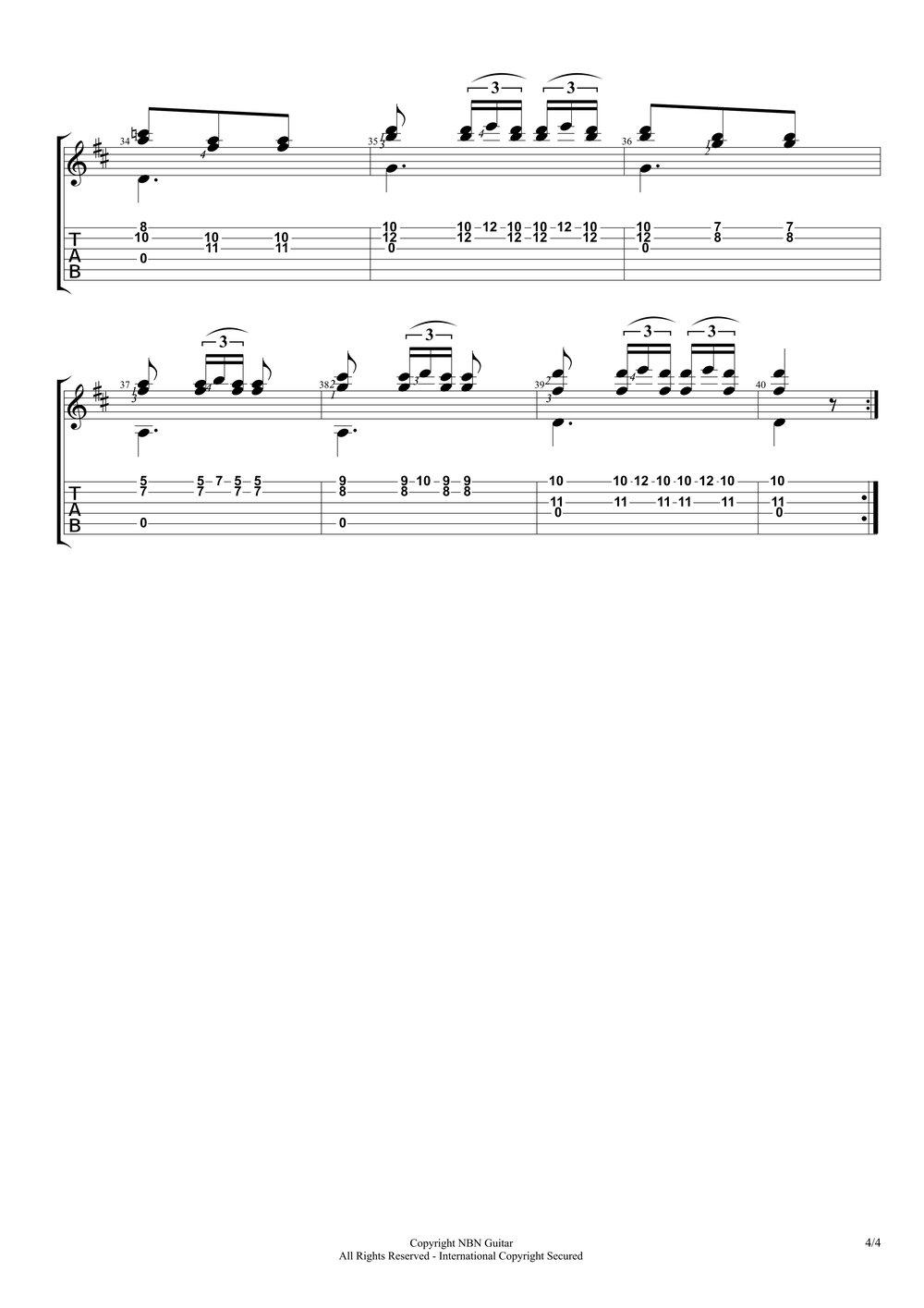Etude No. 10, Op. 60 - Carcassi (Sheet Music & Tabs)-p6.jpg