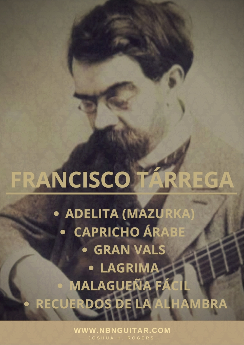 Francisco Tarrega Sheet Music & Tabs Bundle — NBN Guitar