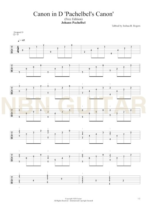 canon in d free classical guitar tabs nbn guitar