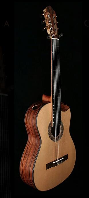 One of Kris Barnett's stunning guitars featuring an indented cutaway.