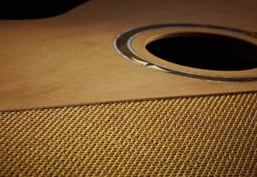 Nomex core with the upper board (picture courtesy of Ortega Guitars)
