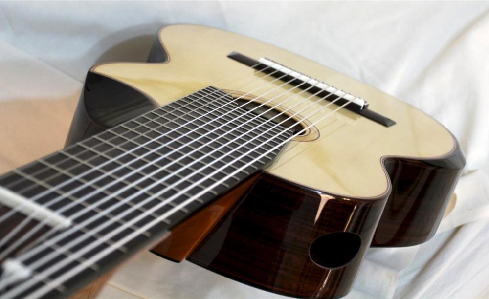 A stunning Alto 11-string guitar by Neris Gonzalez (Bartolex).
