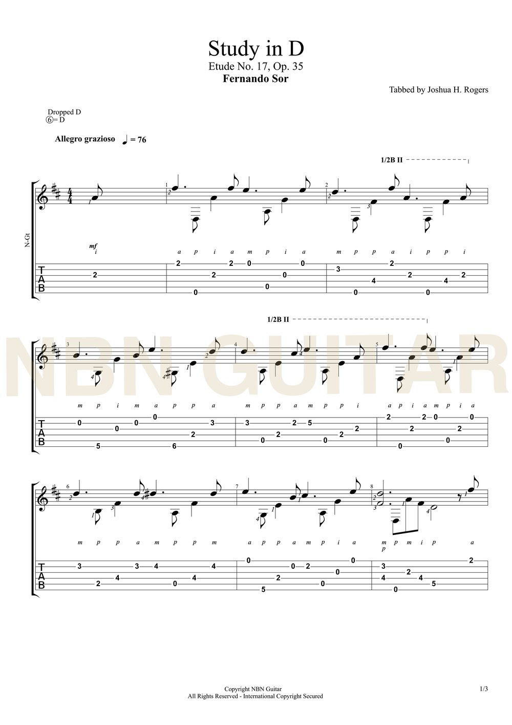 Study in D (Sheet Music & Tabs)-p2.jpg