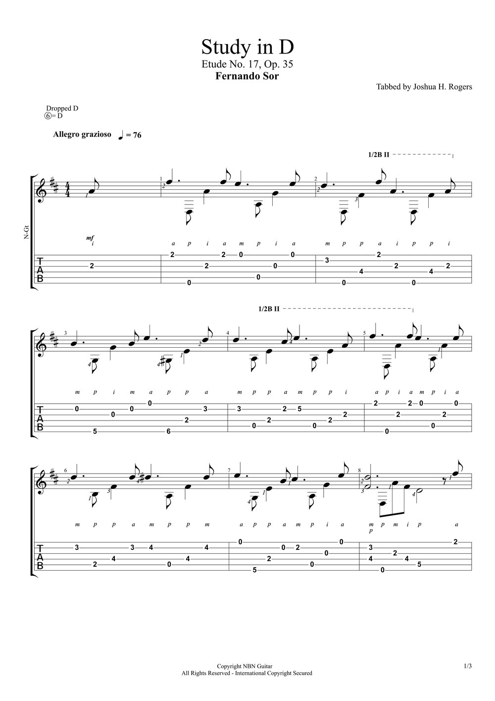 Study in D (Sheet Music & Tabs)-p2.jpg