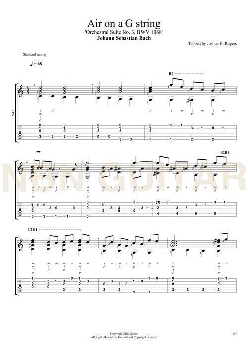 Air on a G String Online Classical Guitar Lesson — NBN Guitar