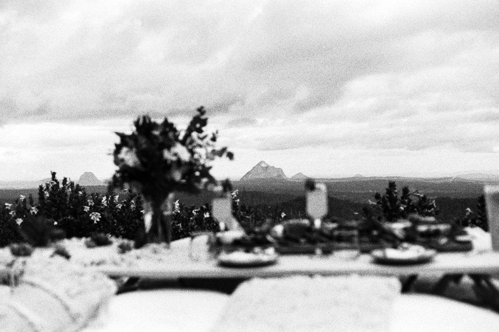 Malent Botanic Gardens, view of Glasshouse Mountains