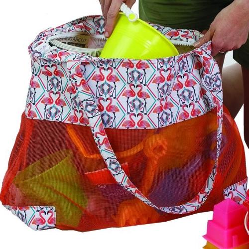 PSM-120FG OCEANSIDE MESH TOTE Flamingo close up.jpg