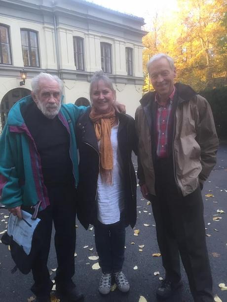 """Her står jeg sammen med prof. emeritus Tore Midtvedt og prof.emeritus Arnold Berstad. Fra konferansen """"Tarmens viktige mikrober"""" høsten 2016."""