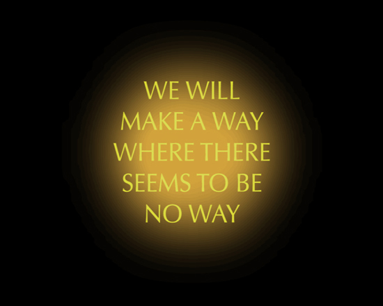 We Will Make A Way. Video projection. Kate Pickering.