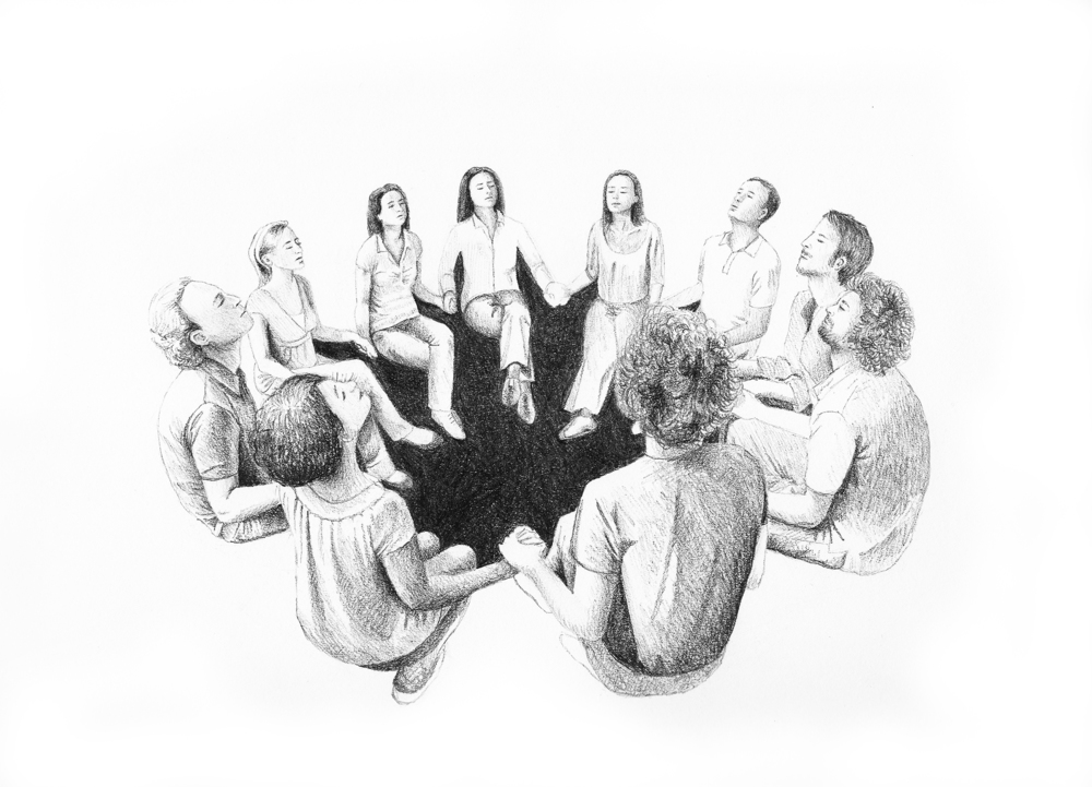 The Circle. Drawing. Kate Pickering.