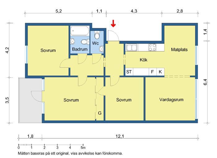 3 RUM & KÖK. (LGH 86.5)