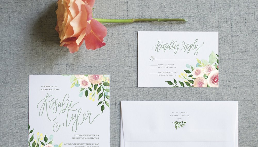 THE ROSALIE SUITE - Modern Calligraphy and Watercolor Florals