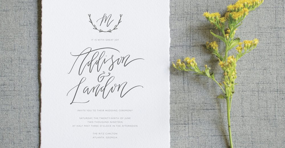 THE ADDISON SUITE - Modern Calligraphy and Branch Monogram