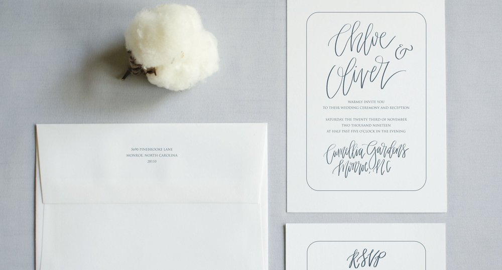 THE CHLOE SUITE - Modern Calligraphy and Structured Edges