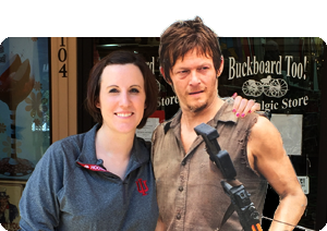 Megan Hardison   When she's not building civilization on the island of Catan, Megan walks the mean streets with Daryl Dixon who also loves Jack in the Box tacos. Rumor has it that Megan is  originally from Olney, Illinois, home of the white squirrels.