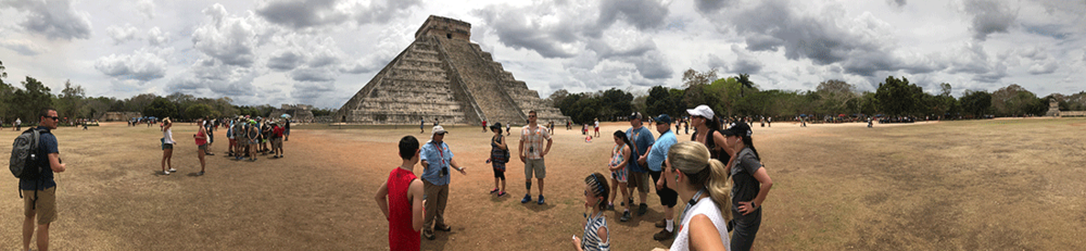 The ruins at Chichen Itza