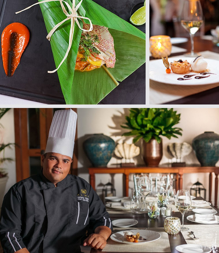 Chef Heberto Eljach has generated his own style to create authentic Colombian cuisine